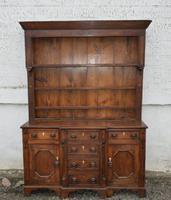 18th Century Oak Inlaid Dresser with Plate Rack