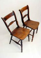 Near Pair of Victorian Scroll Back Oxford Chairs in Ash / Elm (5 of 11)