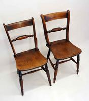 Near Pair of Victorian Scroll Back Oxford Chairs in Ash / Elm (11 of 11)