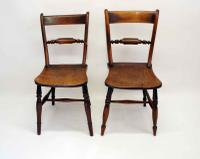 Near Pair of Victorian Scroll Back Oxford Chairs in Ash / Elm (4 of 11)