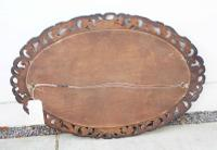 Early 20th Carolean Style Carved Oak  Overmantle  Mirror (12 of 12)