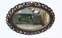 Early 20th Carolean Style Carved Oak  Overmantle  Mirror (3 of 12)