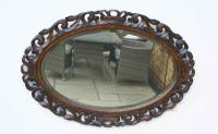 Early 20th Carolean Style Carved Oak  Overmantle  Mirror (9 of 12)