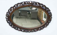 Early 20th Carolean Style Carved Oak  Overmantle  Mirror (11 of 12)