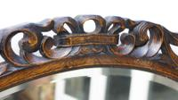 Early 20th Carolean Style Carved Oak  Overmantle  Mirror (5 of 12)
