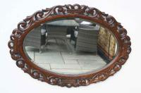 Early 20th Carolean Style Carved Oak  Overmantle  Mirror - Chestnut (2 of 10)