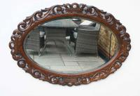 Early 20th Carolean Style Carved Oak  Overmantle  Mirror - Chestnut (9 of 10)