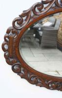 Early 20th Carolean Style Carved Oak  Overmantle  Mirror - Chestnut (5 of 10)