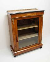 Victorian Inlaid Walnut Pier  or Display Cabinet with Ormolu Mounts (2 of 18)