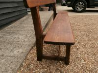 Late 19th Century Pine Bar Back Bench (10 of 12)