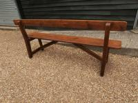 Late 19th Century Pine Bar Back Bench (12 of 12)