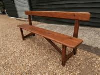 Late 19th Century Pine Bar Back Bench (2 of 12)