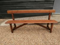 Late 19th Century Pine Bar Back Bench (3 of 12)