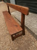 Late 19th Century Pine Bar Back Bench (4 of 12)