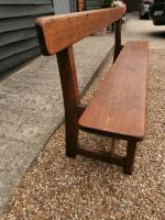 Late 19th Century Pine Bar Back Bench (5 of 12)