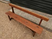 Late 19th Century Pine Bar Back Bench (6 of 12)