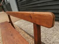 Late 19th Century Pine Bar Back Bench (8 of 12)