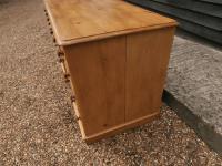 One Piece Twin Pedestal 19th Century Pine Desk Bureau (3 of 11)