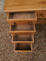 One Piece Twin Pedestal 19th Century Pine Desk Bureau (6 of 11)
