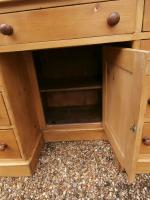 One Piece Twin Pedestal 19th Century Pine Desk Bureau (8 of 11)