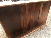 One Piece Twin Pedestal 19th Century Pine Desk Bureau (11 of 11)