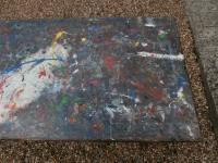 Mid 20th Century Beech Art School College Work Table Craft Crafter Graffiti (4 of 10)