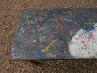 Mid 20th Century Beech Art School College Work Table Craft Crafter Graffiti (5 of 10)