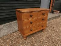 Outstanding 19th Century Pine Small Farmhouse Style Chest of Drawers (3 of 12)