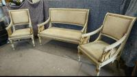 Painted Sofa & 2 Chairs