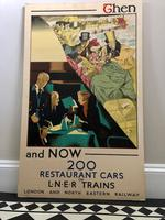"Rare Original Art Deco Lner RAilway Poster ""Then & Now"" C.1931"