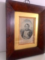 Etching of Napoleon c.1804-1821 in Hardwood Frame with Old Label Verso (2 of 5)