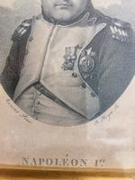 Etching of Napoleon c.1804-1821 in Hardwood Frame with Old Label Verso (3 of 5)