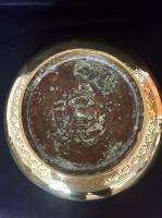 Large 18th Century Dutch Colonial Indonesian Brass Bowl (3 of 10)