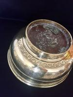 Large 18th Century Dutch Colonial Indonesian Brass Bowl (10 of 10)