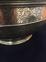 Large 18th Century Dutch Colonial Indonesian Brass Bowl (8 of 10)