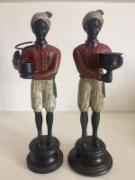 Pair of Art Deco Style Blackamoor Nubian Figurine Candlesticks (2 of 8)