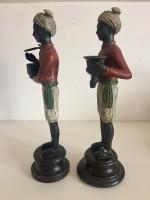 Pair of Art Deco Style Blackamoor Nubian Figurine Candlesticks (3 of 8)