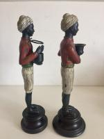 Pair of Art Deco Style Blackamoor Nubian Figurine Candlesticks (5 of 8)