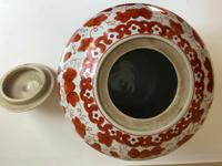 Fine 19th Century Porcelain Chinese Ginger Jar Iron Red Pattern of Tongzhi Period (5 of 5)