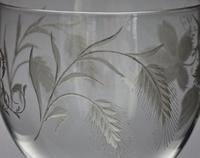 Large, Late Georgian, Ovoid-Bowled, Hop & Barley Engraved Ale Glass or Goblet (6 of 8)