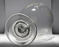 Large, Late Georgian, Ovoid-Bowled, Hop & Barley Engraved Ale Glass or Goblet (8 of 8)