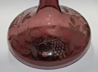 William IV Engraved, Amethyst Glass Mell Decanter (2 of 4)