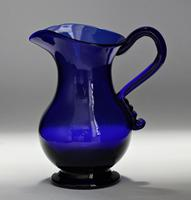 Georgian, Hand-Blown, Bristol Blue Glass Cream Jug & Sugar Bowl (5 of 9)