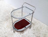 1950s Art Deco Italian Glass Drinks Trolley