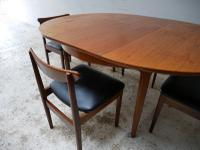 1970'S Mid Century Extending Dining Table and 4 Chairs (4 of 8)