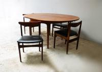 1970'S Mid Century Extending Dining Table and 4 Chairs (3 of 8)