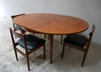 1970'S Mid Century Extending Dining Table and 4 Chairs (8 of 8)