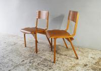 1960s Scandinavian Mid Century Plywood Stacking Chair '30 Available' (3 of 4)