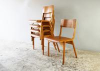1960s Scandinavian Mid Century Plywood Stacking Chair '30 Available' (2 of 4)