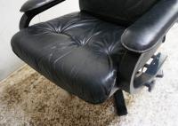 1970s Danish Mid Century Leather Reclining Swivel Chair (6 of 6)